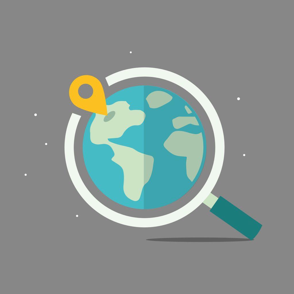 location, earth, map